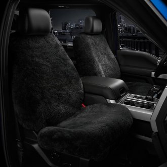 US Sheepskin® - Tailor-Made All Sheepskin 1st Row Black Seat Cover
