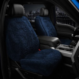 US Sheepskin® - Tailor-Made All Acrylic 1st Row Blue Seat Cover