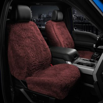US Sheepskin® - Tailor-Made All Acrylic 1st Row Burgundy Seat Cover