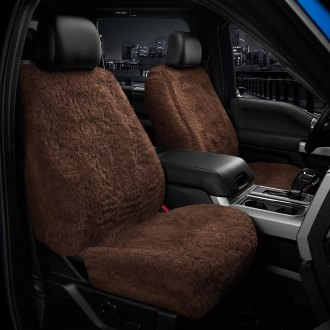 US Sheepskin® - Tailor-Made All Acrylic 1st Row Brown Seat Cover