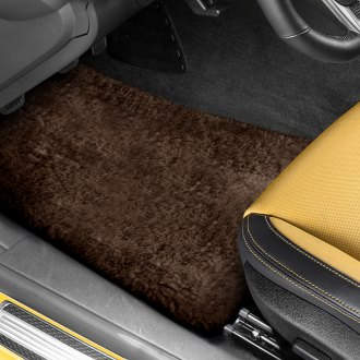 US Sheepskin® - Tailor-Made Sheepskin 1st & 2nd Row Brown Floor Mats