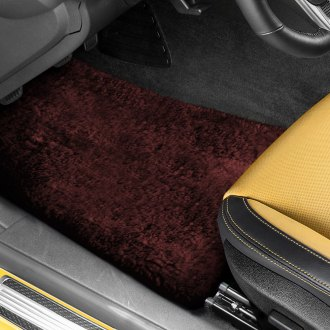 US Sheepskin® - Tailor-Made Sheepskin 1st & 2nd Row Burgundy Floor Mats