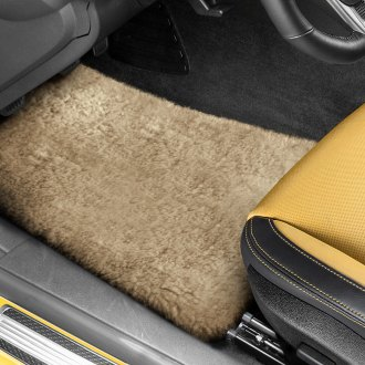 US Sheepskin® - Tailor-Made Sheepskin 1st & 2nd Row Camel Floor Mats