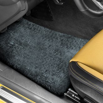 US Sheepskin® - Tailor-Made Sheepskin 1st & 2nd Row Dark Silver Floor Mats