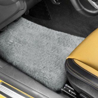 US Sheepskin® - Tailor-Made Sheepskin 1st & 2nd Row Silver Floor Mats