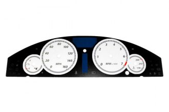 US Speedo® 300060 - Daytona Edition White Gauge Face Kit