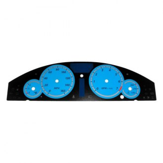 US Speedo® - Daytona Edition Blue Gauge Face Kit with Blue Night Lettering Color