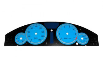 US Speedo® 300064 - Daytona Edition Blue Gauge Face Kit