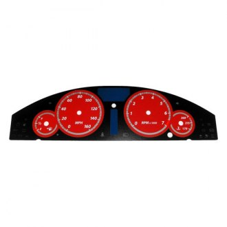 US Speedo® - Daytona Edition Red Gauge Face Kit with Red Night Lettering Color