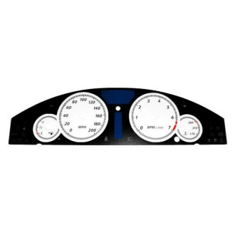 US Speedo® - Daytona Edition White Gauge Face Kit with White Night Lettering Color
