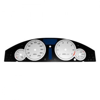 US Speedo® - Daytona Edition Silver Gauge Face Kit with Silver Night Lettering Color