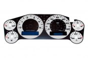 US Speedo® - Daytona Edition Silver Gauge Face Kit with Blue Night Lighting, 120 MPH