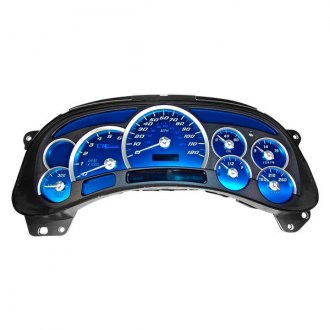 US Speedo® - Aqua Edition Gauge Face Kit, 120 MPH and 6000 RPM