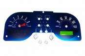 US Speedo® - Aqua Edition Gauge Face Kit, 120 MPH and 7000 RPM