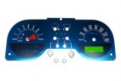 US Speedo® - Aqua Edition Gauge Face Kit, 140 MPH and 8000 RPM