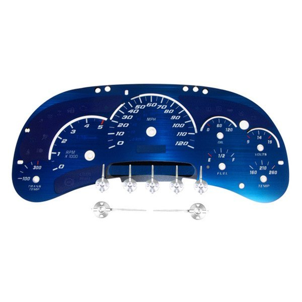 US Speedo® - Aqua Edition Gauge Face Kit, 120 MPH and 5000 RPM