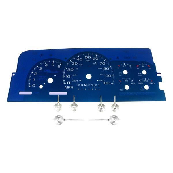 US Speedo® - Aqua Edition Gauge Face Kit, 100 MPH and 6000 RPM