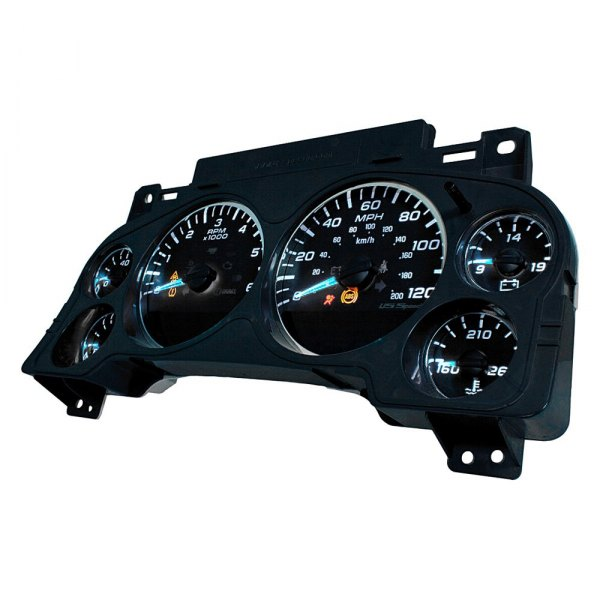US Speedo® - Black OPS Edition Gauge Face Kit, 120 MPH and 5000 RPM