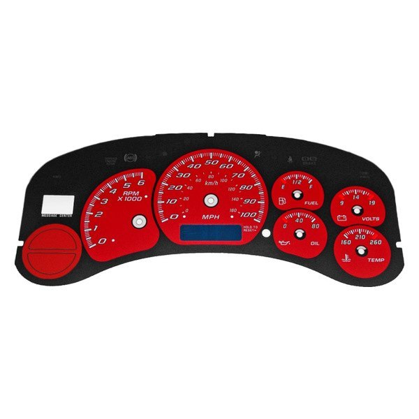 100 Kph To Mph >> Us Speedo Ck1000235 Daytona Edition Gauge Face Kit With Blue Night Lettering Color Red 100 Mph 180 Kph