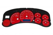 US Speedo® - Daytona Edition Red Gauge Face Kit with Blue Night Lighting, 100 MPH / 180 KMH