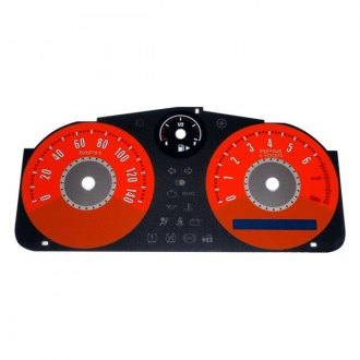 US Speedo® - Daytona Edition Red Gauge Face Kit with Red Night Lettering Color, 140 MPH 8000 RPM