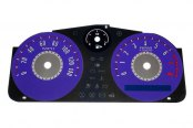 US Speedo® - Daytona Edition Purple Gauge Face Kit