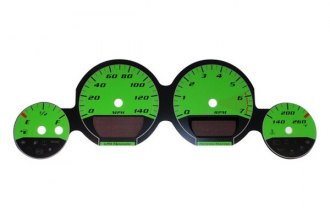 US Speedo® - Daytona Edition Green Gauge Face Kit with Green Night Lighting, 140 MPH