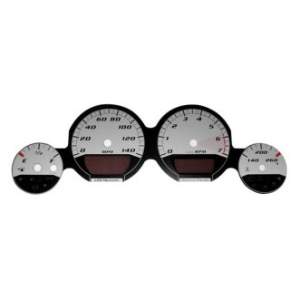 US Speedo® - Daytona Edition Silver Gauge Face Kit with Silver Night Lettering Color, 140 MPH