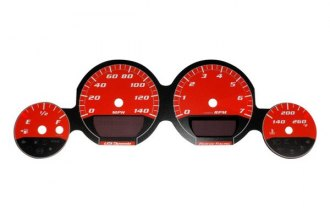 US Speedo® MAG065 - Daytona Edition Red Gauge Face Kit with Red Night Lighting, 140 MPH