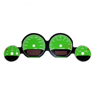 US Speedo® - Daytona Edition Green Gauge Face Kit with Green Night Lettering Color, 180 MPH
