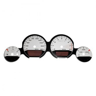 US Speedo® - Daytona Edition Silver Gauge Face Kit with Silver Night Lettering Color, 180 MPH
