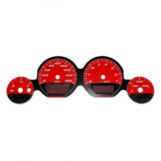US Speedo® - Daytona Edition Red Gauge Face Kit with Red Night Lettering Color, 160 MPH