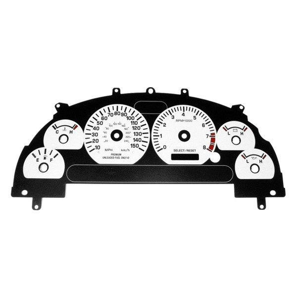 US Speedo® - Daytona Edition White Gauge Face Kit