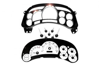 US Speedo® - Escalade Edition White Gauge Face Kit with Chrome Lens