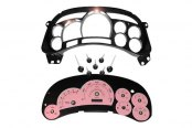 US Speedo® - Escalade Edition Pink Gauge Face Kit with Chrome Lens