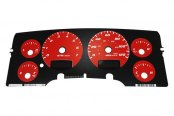 US Speedo® - Daytona Edition Red Gauge Face Kit with White Night Lighting, 120 MPH 7000 RPM