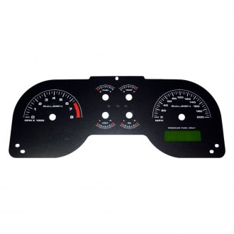 US Speedo® - Daytona Edition Gauge Face Kit with White Night Lettering Color, Black, 200 MPH