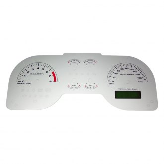 US Speedo® - Daytona Edition Gauge Face Kit with White Night Lettering Color, Silver, 200 MPH