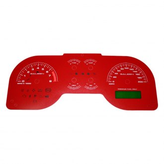 US Speedo® - Daytona Edition Gauge Face Kit with White Night Lettering Color, Red, 200 MPH