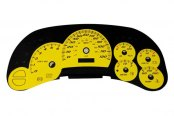 US Speedo® - Daytona Edition Yellow Gauge Face Kit