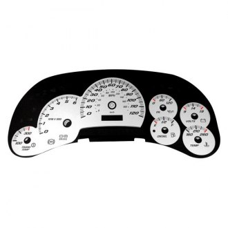 US Speedo® - Daytona Edition White Gauge Face Kit with Blue Night Lettering Color