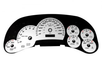 US Speedo® SS1200540 - Daytona Edition White Gauge Face Kit