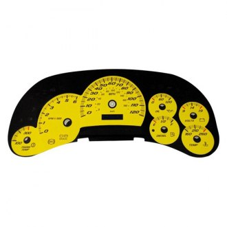 US Speedo® - Daytona Edition Yellow Gauge Face Kit with Blue Night Lettering Color