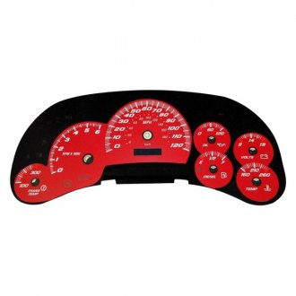 US Speedo® - Daytona Edition Red Gauge Face Kit with Blue Night Lettering Color
