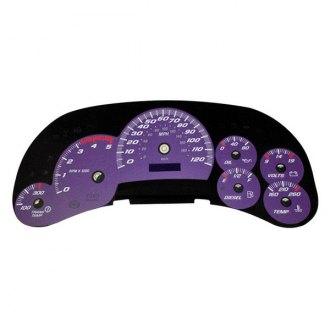 US Speedo® - Daytona Edition Gauge Face Kit with Blue Night Lettering Color