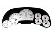 US Speedo® - Daytona Edition White Gauge Face Kit with Blue Night Lighting