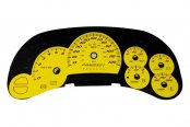 US Speedo® - Daytona Edition Yellow Gauge Face Kit with Blue Night Lighting