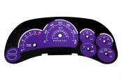 US Speedo® - Daytona Edition Purple Gauge Face Kit with Blue Night Lighting
