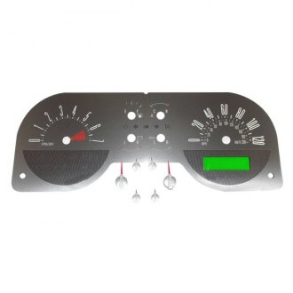 US Speedo® - Stainless Steel Gauge Face Kit with Red Numbers, 120 MPH and 7000 RPM