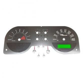 US Speedo® - Stainless Steel Gauge Face Kit with Red Numbers, 140 MPH and 8000 RPM